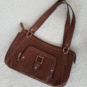 Liz & Co. Brown Leather Handbag